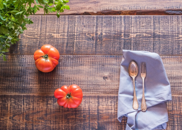 Tomatoes in the table