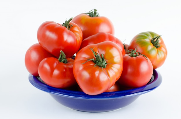 Tomatoes on white