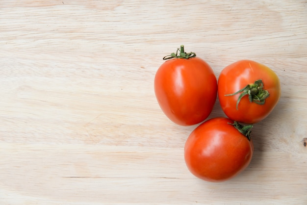 Tomatoes on wood table