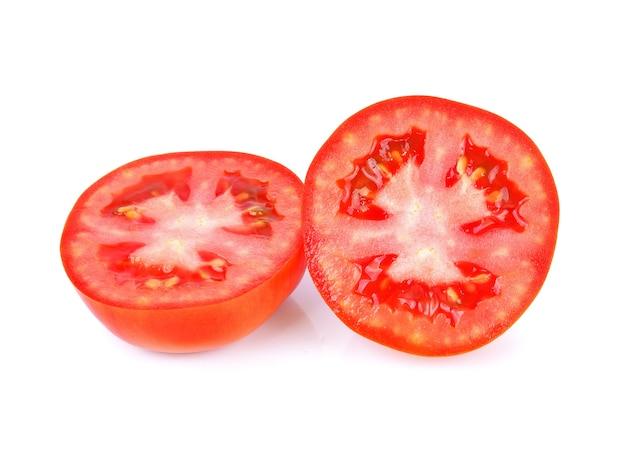 Tomatos isolated on white background.