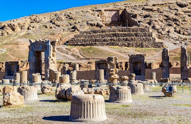 Tomb of artaxerxes iii above persepolis - iran