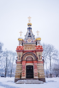 The tomb of the princes of paskevich in the winter time