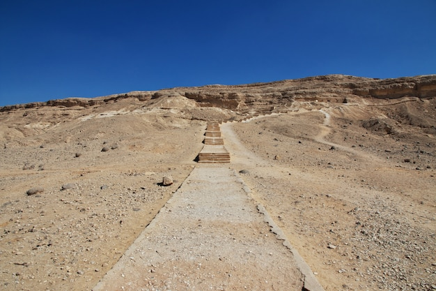 Tombs of the pharaohs in amarna on the banks of the nile, egypt