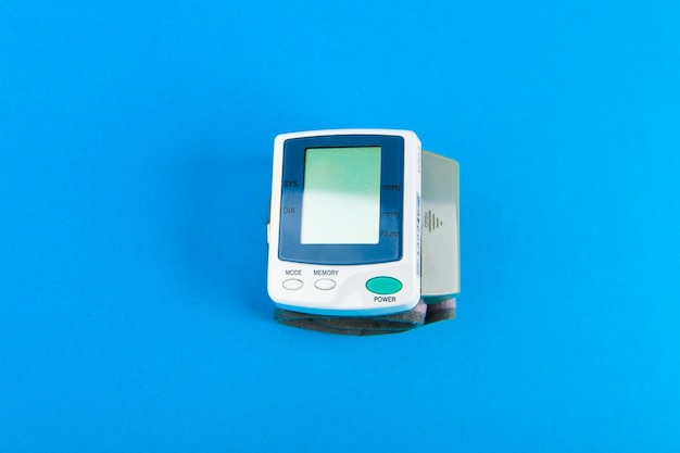 Tonometer for pressure. electronic portable blood pressure monitor.