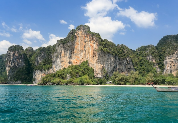 Tonsai beach at railay near ao nang ,krabi thailand.