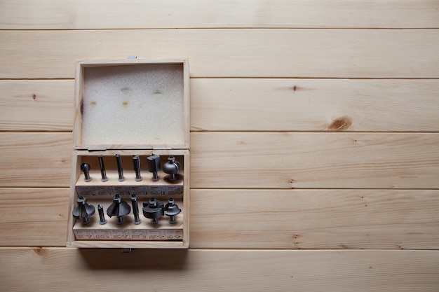 Tool in a wooden box