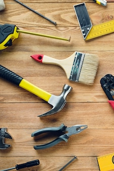 Tools for building a house or repairing an apartment
