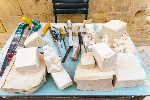 Tools for carving stone