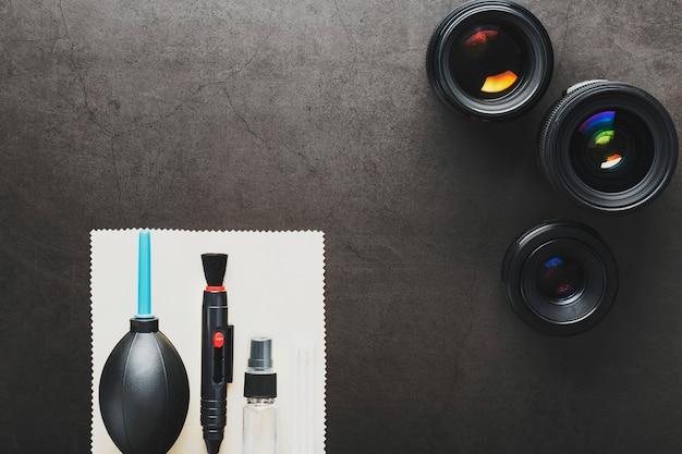 Инструменты для чистки камеры с линзами