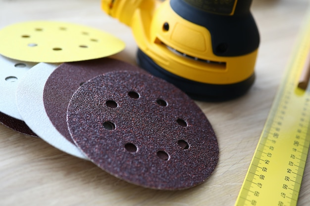 Tools for grinding surface and ruler