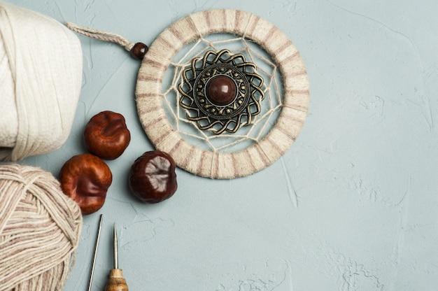 Tools for handmade, yarn, dream catcher