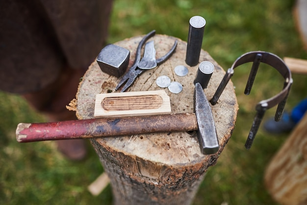 Tools for making coins