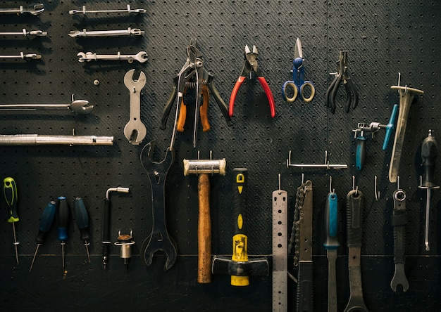 Tools of a repairing shop