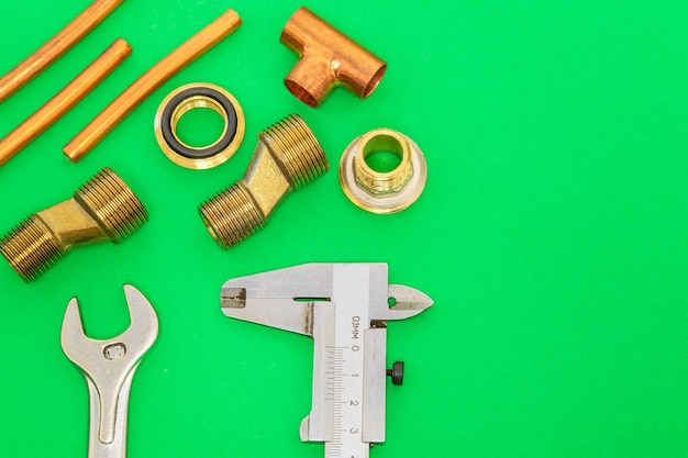 Tools and spare parts for plumbing