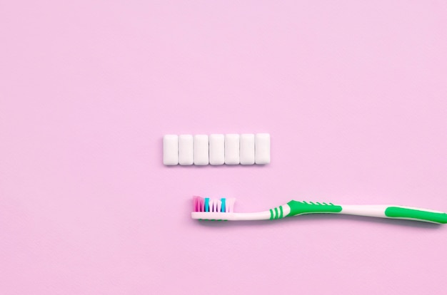Toothbrush and chewing gums