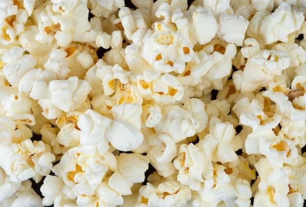 Top closeup view of a popcorns