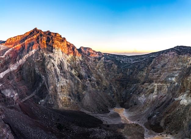 Top of mount agung volcano