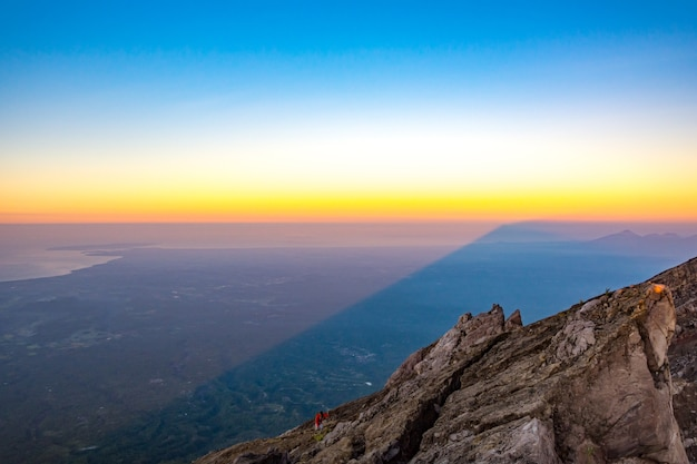 The top of mount agung volcano