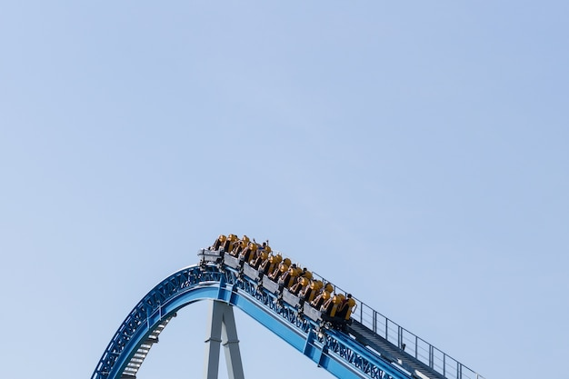 On the top roller coaster