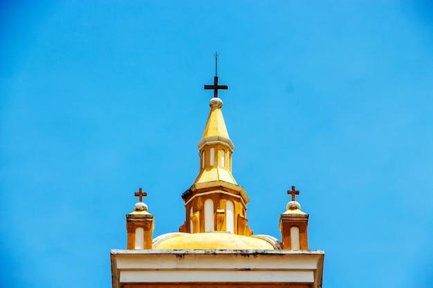 Top of the tower of saint joseph catholic church, ayutthaya thailand