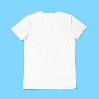 Top up up view round neck t shirt isolated on blue background. suitable for your design project.
