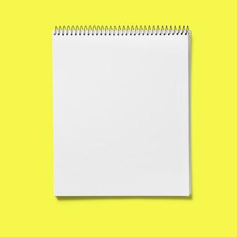 黄色の背景に分離されたビュースケッチブックを補充します。あなたのデザインプロジェクトに適しています。