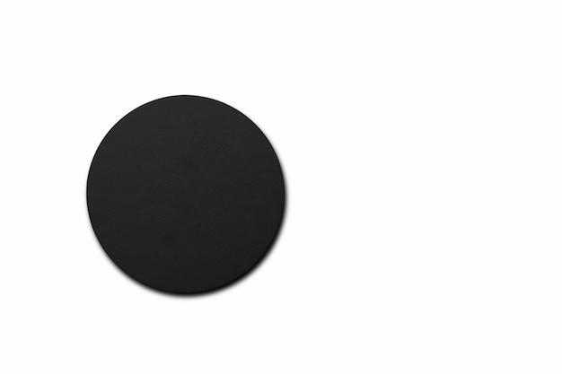 흰색에 검은색 원 코스터의 위쪽 보기. 디자인 요소에 적합합니다.