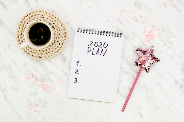 Top view 2020 resolutions plan