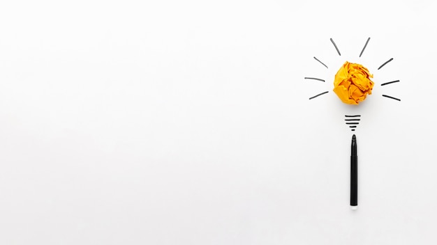 Assortimento astratto vista dall'alto con elementi di innovazione