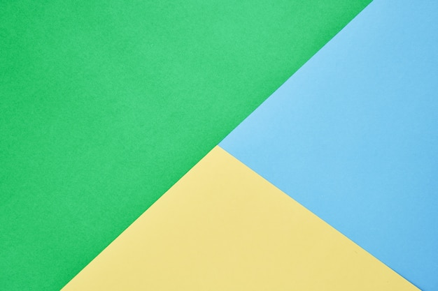 Вид сверху абстрактные трехцветный и красочный пастельный фон бумаги. подходит для обоев.