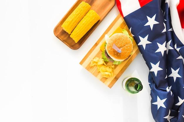 Идеальный вид американской концепции быстрого питания