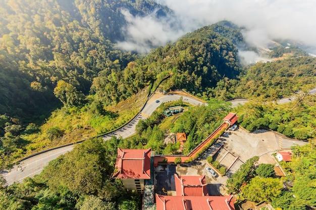 チンスウィー洞窟寺院周辺の眺め
