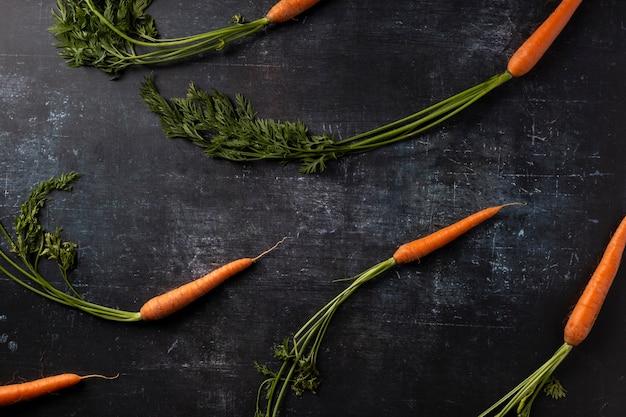 Disposizione di vista dall'alto delle carote