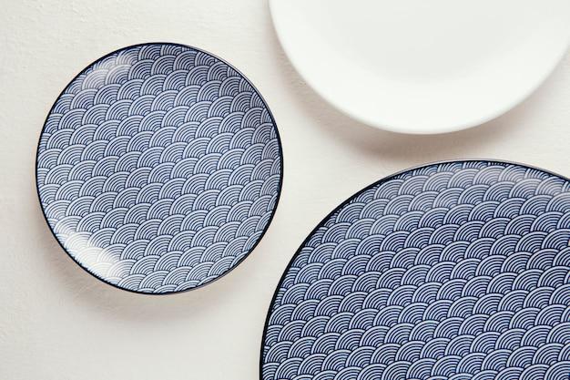 Top view arrangement of elegant tableware