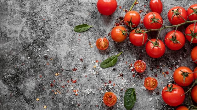Disposizione vista dall'alto di cibo sano per aumentare l'immunità