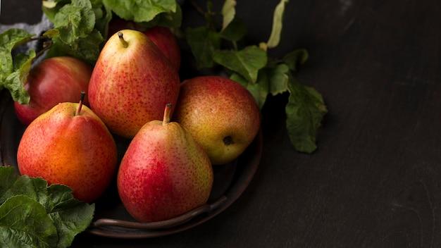 美味しい梨の上面配置