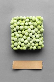 Расположение замороженных продуктов, вид сверху