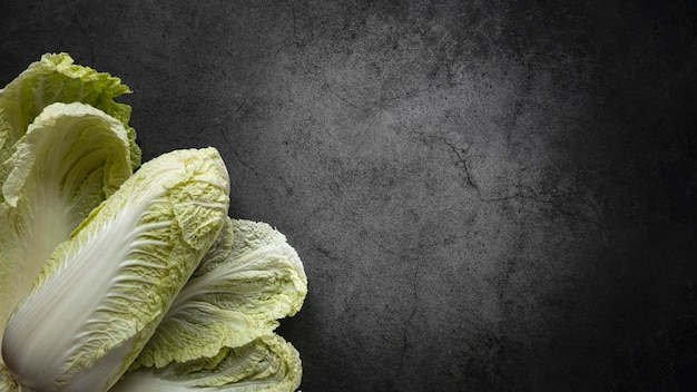 Disposizione di vista dall'alto dello spazio della copia dell'insalata