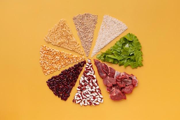 健康食品の上面図の配置