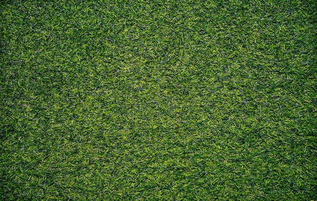 Top view artificial grass background texture