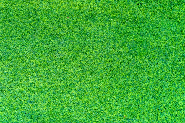 Top view of artificial grass background