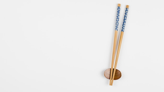Top view of asian chopsticks