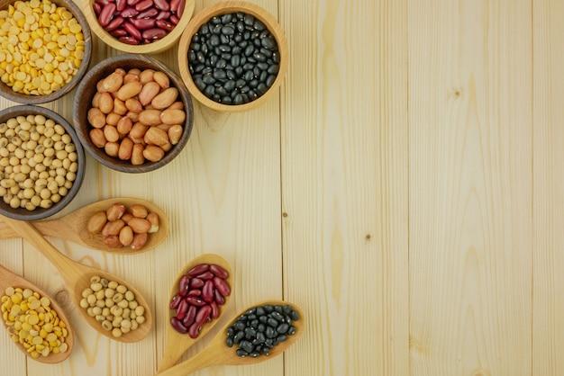 トップビュー盛り合わせ豆