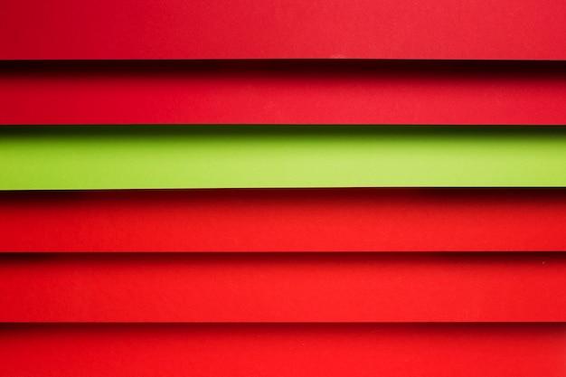 Vista dall'alto assortimento di fogli di carta colorata