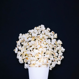 Top view assortment of delicious popcorn