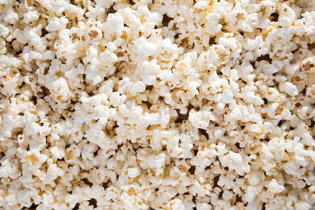 Top view assortment of fresh popcorn on the table