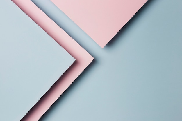 Top view assortment of multicolored paper sheets background
