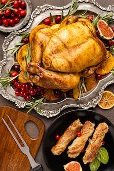 おいしいクリスマス料理のトップビューの品揃え