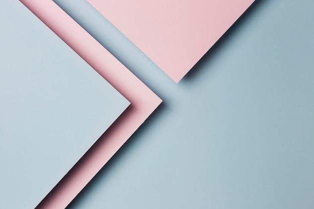 Вид сверху ассортимент разноцветных бумажных листов фона