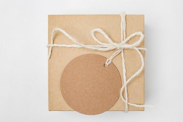リサイクル可能な包装要素の上面図の品揃え